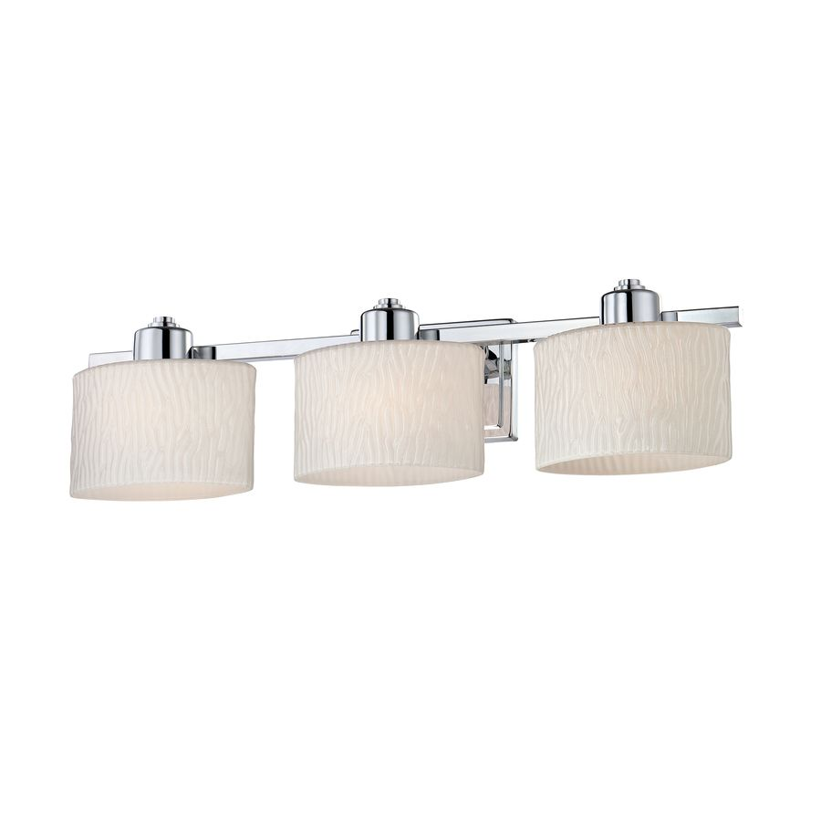 Vanity Lights Lowes Amusing Shop Allen  Roth 3Light Grayson Polished Chrome Bathroom Vanity Review