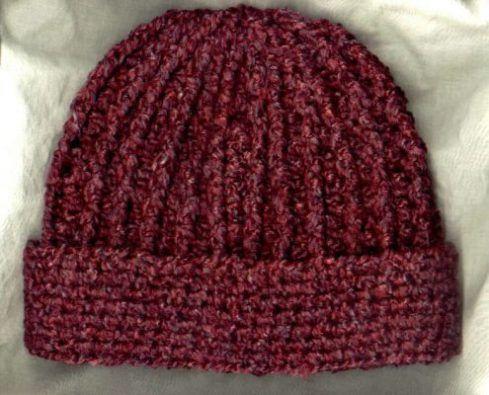 Crocheted Rib Hat | Handarbeiten | Pinterest | Handarbeiten