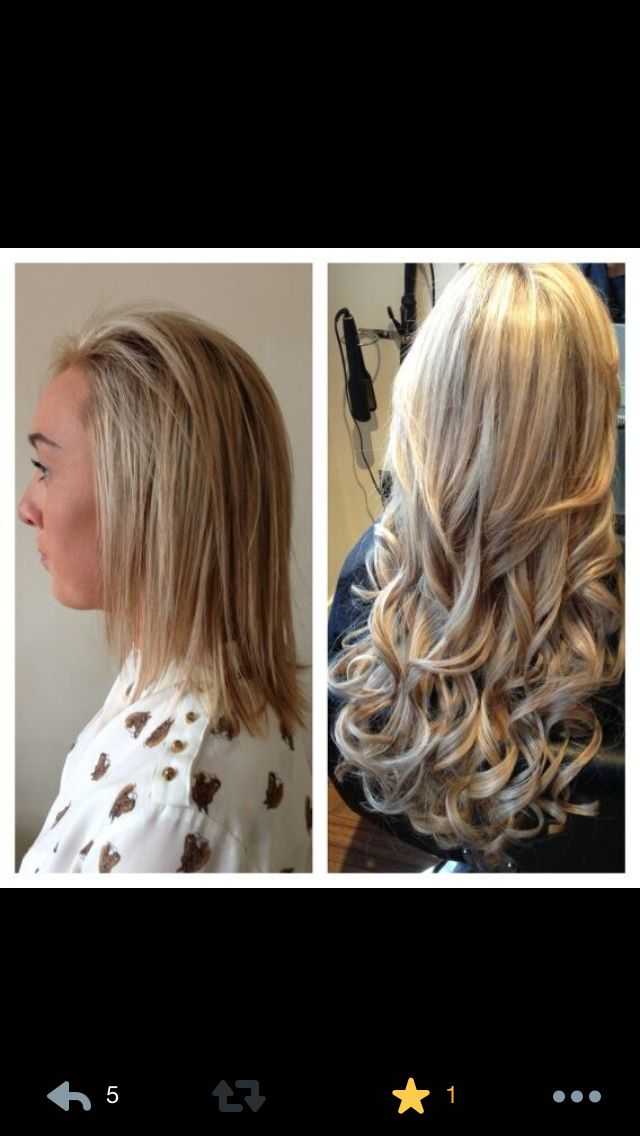 Easilocks Before And After Hair Pinterest Hair Extensions
