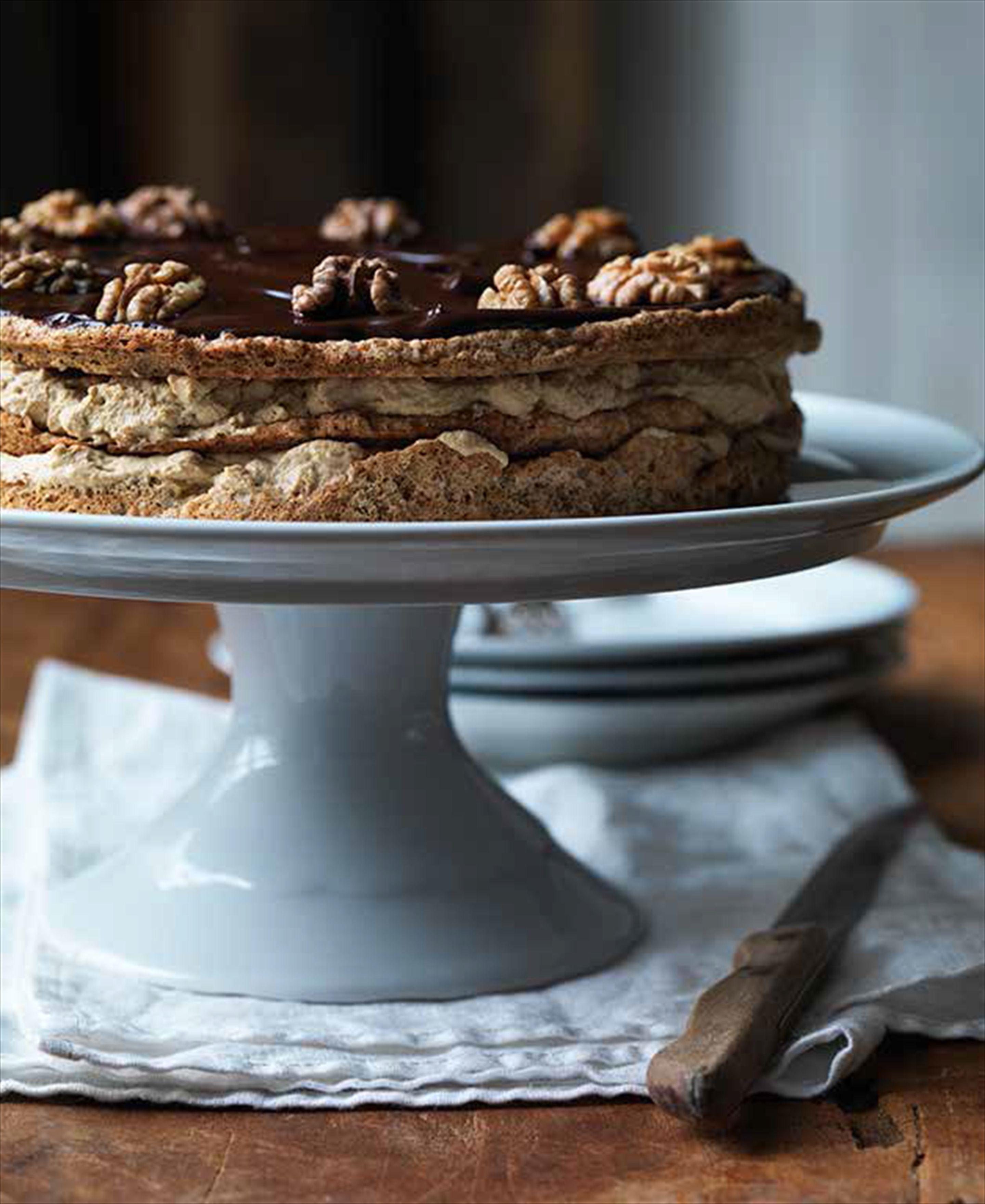 Walnut Macaroon Layer Cake