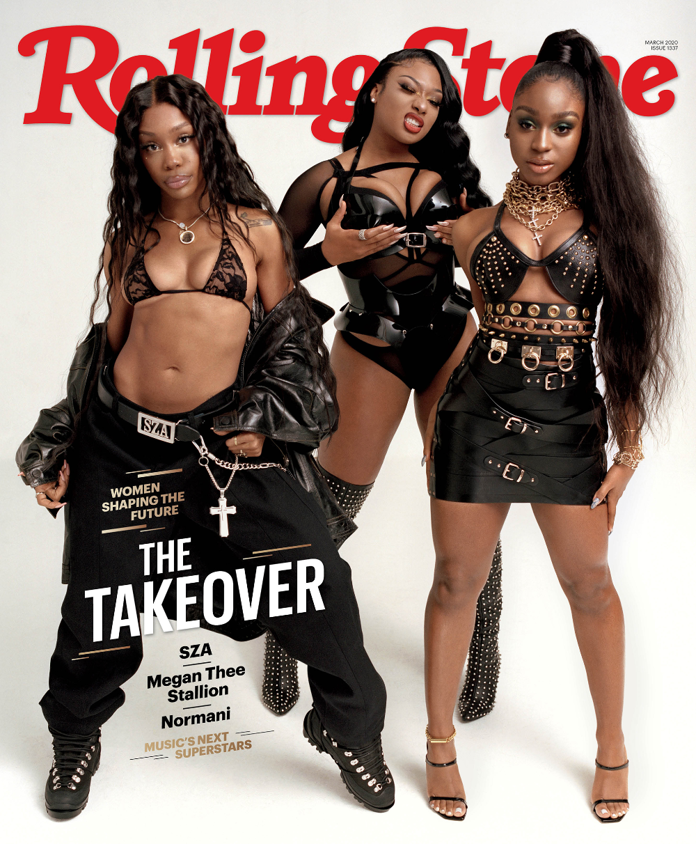 Sza Megan Thee Stallion Normani On Cover Of March Rolling Stone Rolling Stone In 2020 Black Girl Aesthetic Black Magazine Women