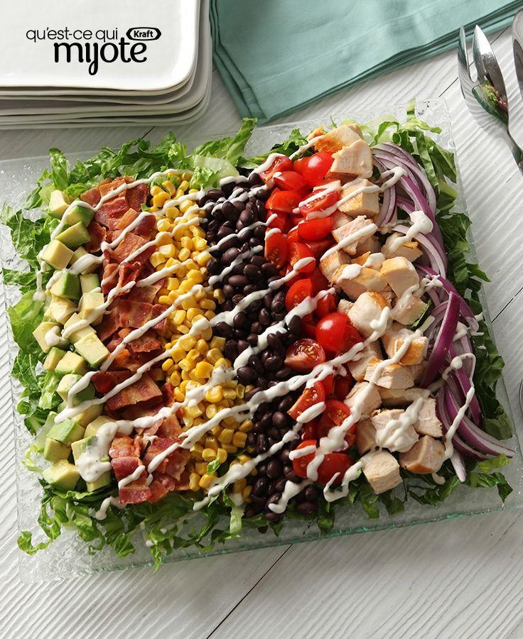 Salade hachée arc-en-ciel #recette