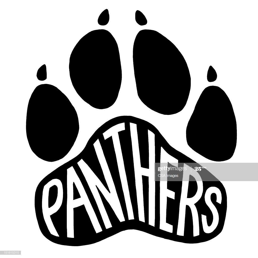 Panthers Paw Print | Paw logo, Spirit shirts, Panther