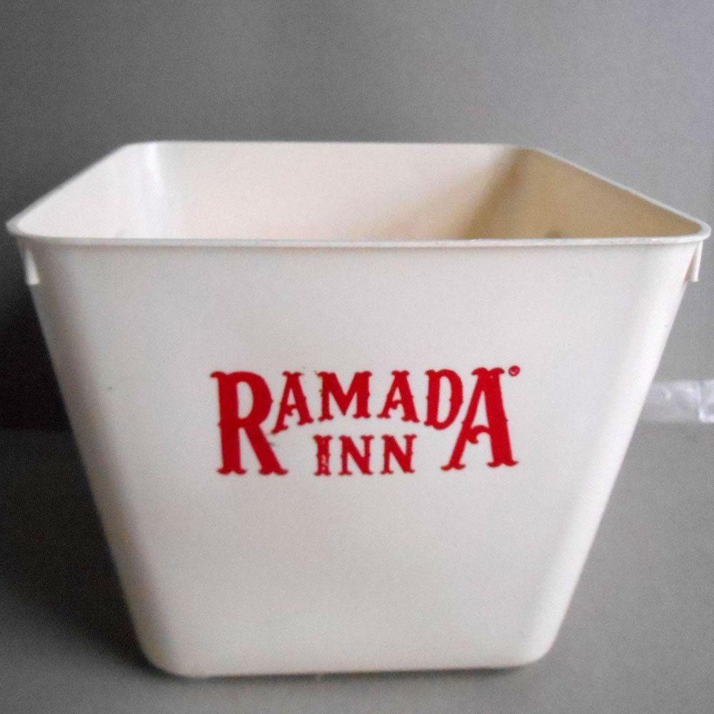 Vintage 70s Ramada Inn Hotel Ice Bucket Travel Souvenir