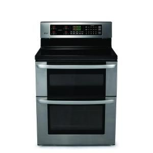 30 in. Self-Cleaning Freestanding Double Oven Electric Range in Stainless Steel-LDE3011ST at The Home Depot