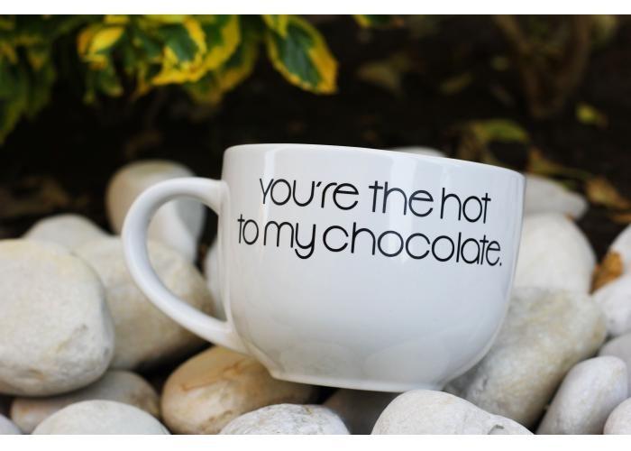 Taza grande de forma redonda ideal para servir cereal con for Capacidad taza cafe con leche