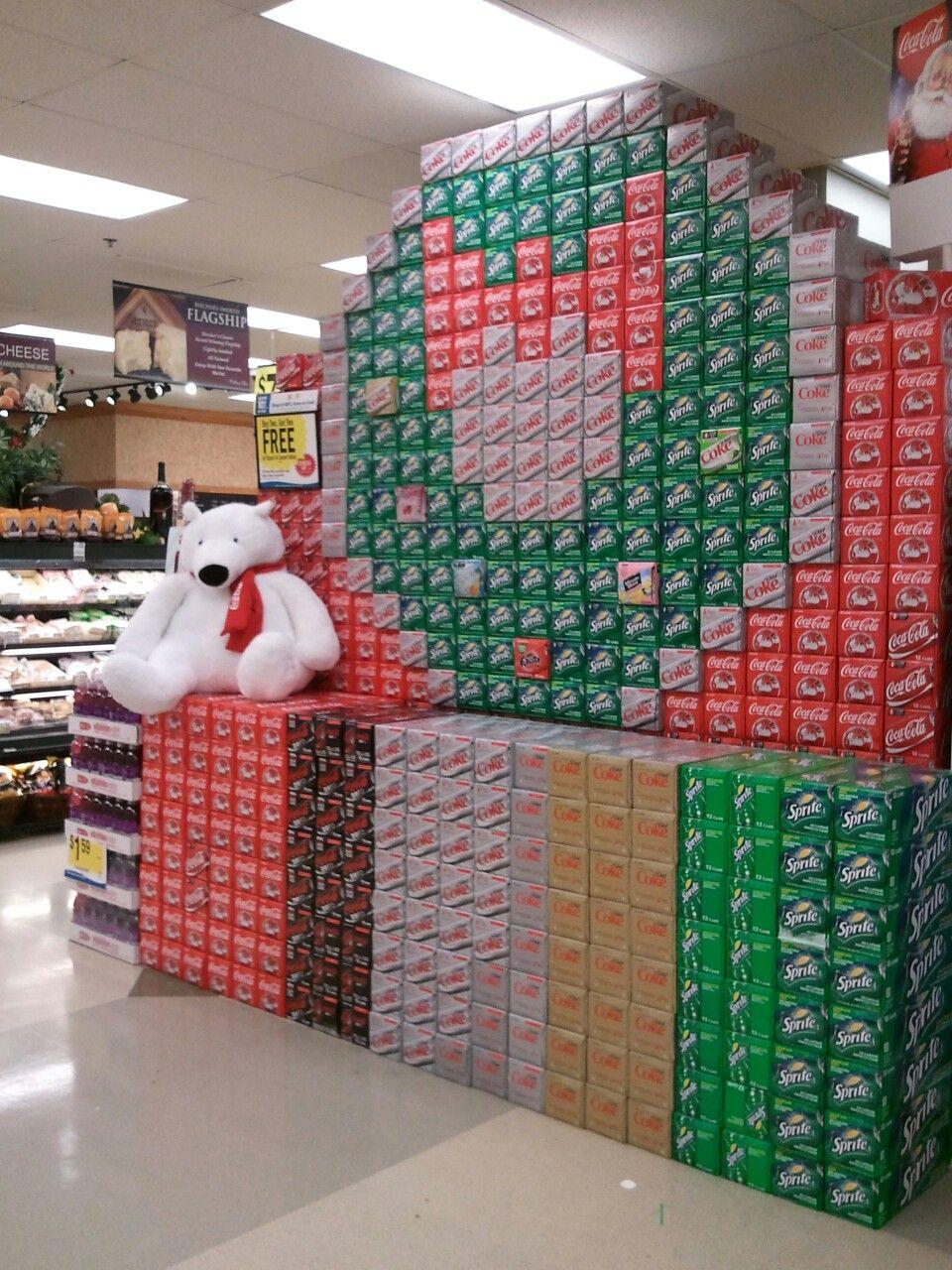 le visual merchandising de saint valentin c est bête mais il coke display