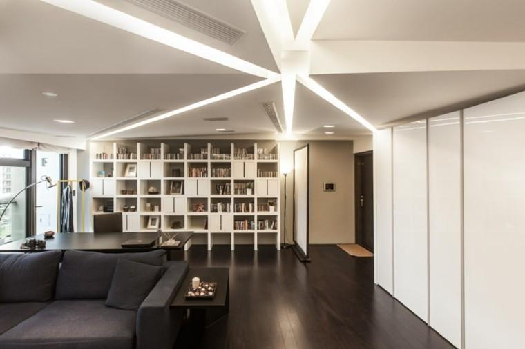 Indirekte LED-Strahler zünden das Wohnzimmer an - 50 Ideen 待試