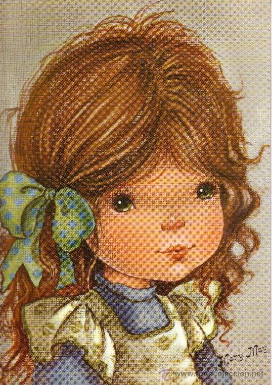 LAMINA DE 21X30 DE DIBUJOS DE NIÑOS - FIRMADA MARY MAY - IDEAL PARA ENMARCAR Y DECORACION - AÑOS 80 (Arte - Láminas Antiguas)