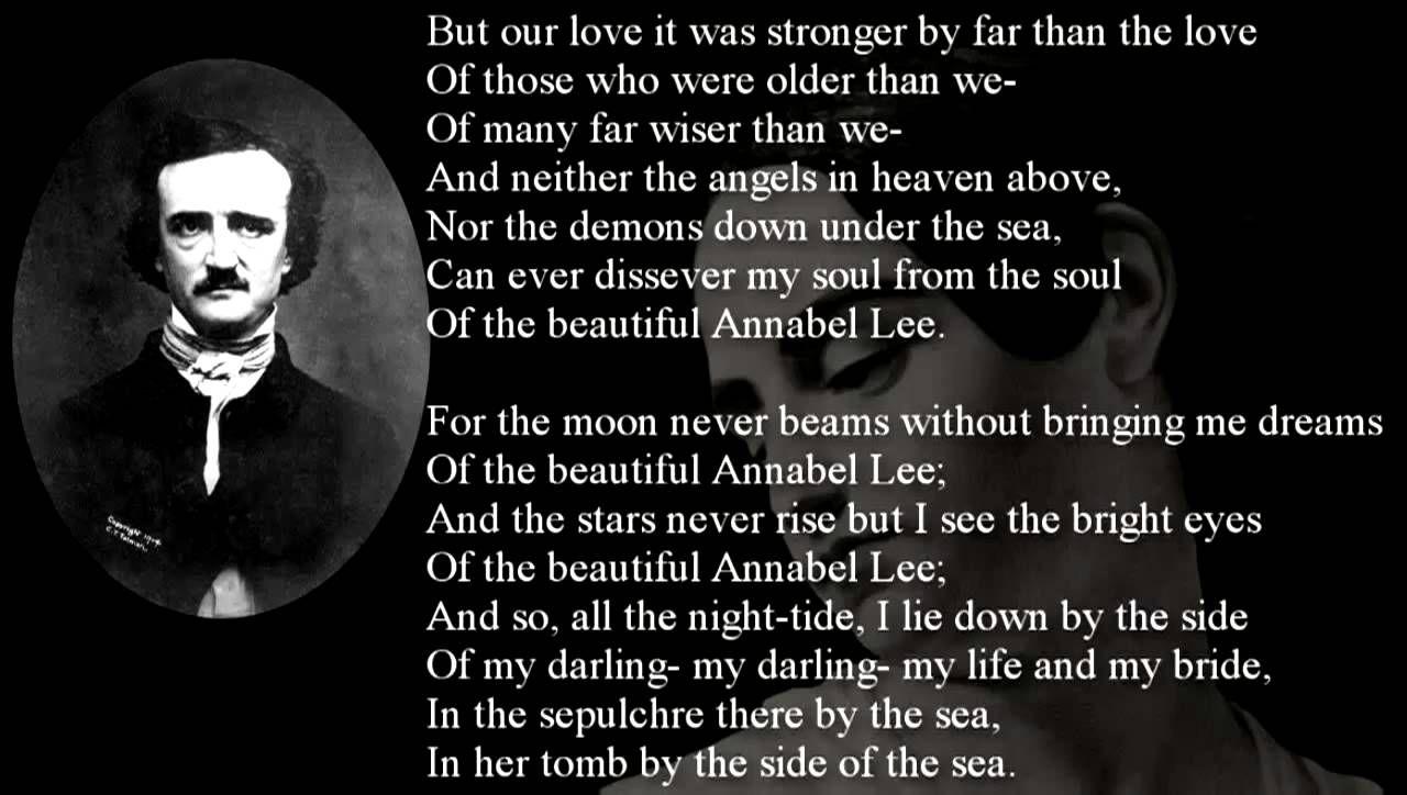 Poem Annabel Lee By Edgar Allan Poe Edgar Allan Poe Edgar Allan Poe Quote Poe