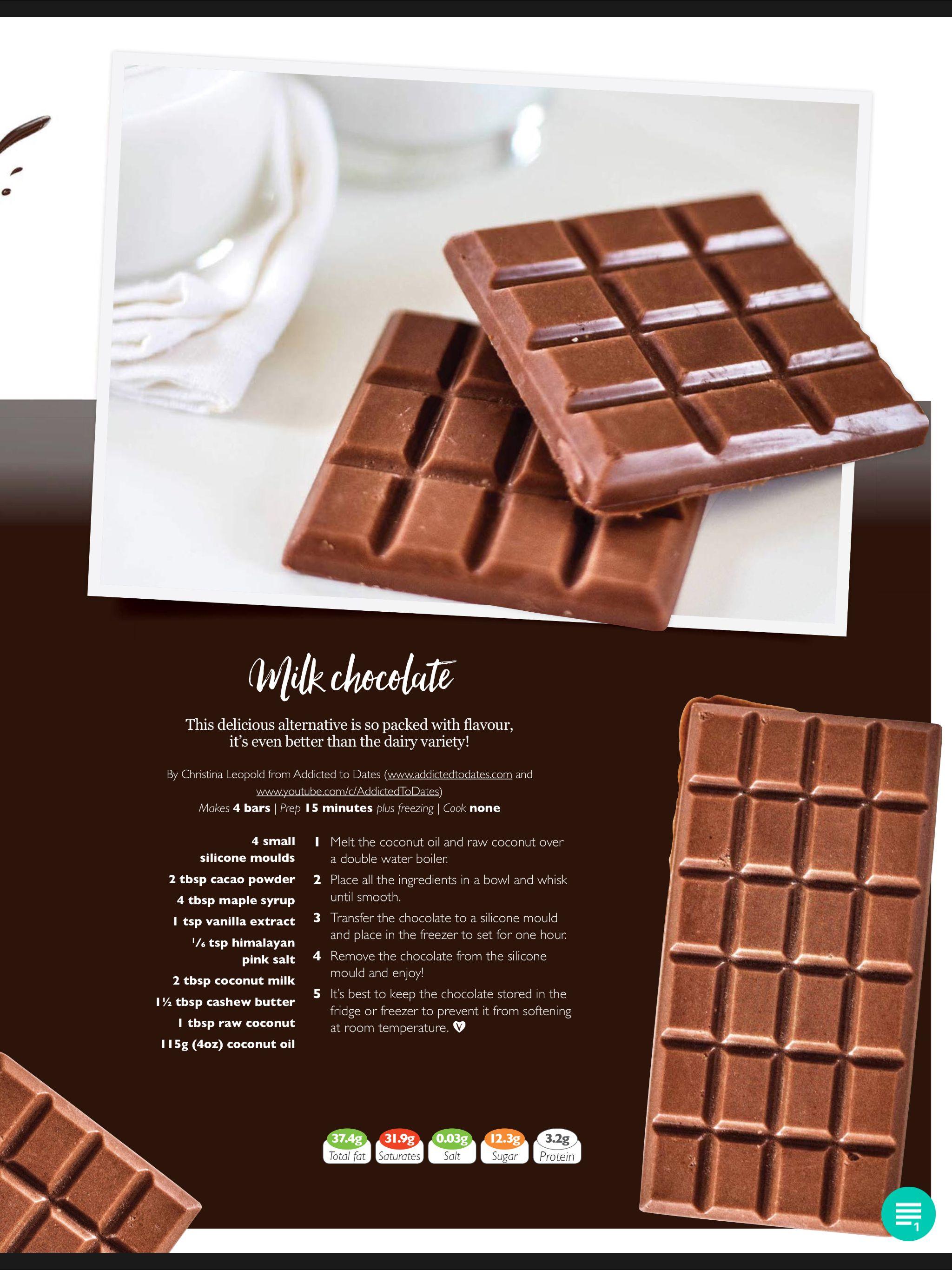 Vegan Milk Chocolate Vegan Milk Chocolate Recipe Milk Chocolate Recipes Homemade Milk Chocolate