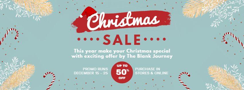 Christmas Sale Social Media Banner Template Christmas Sale