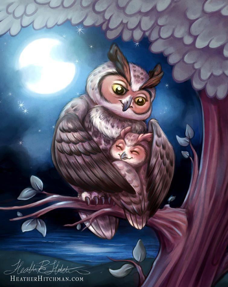 доброй ночи картинки с совой только что