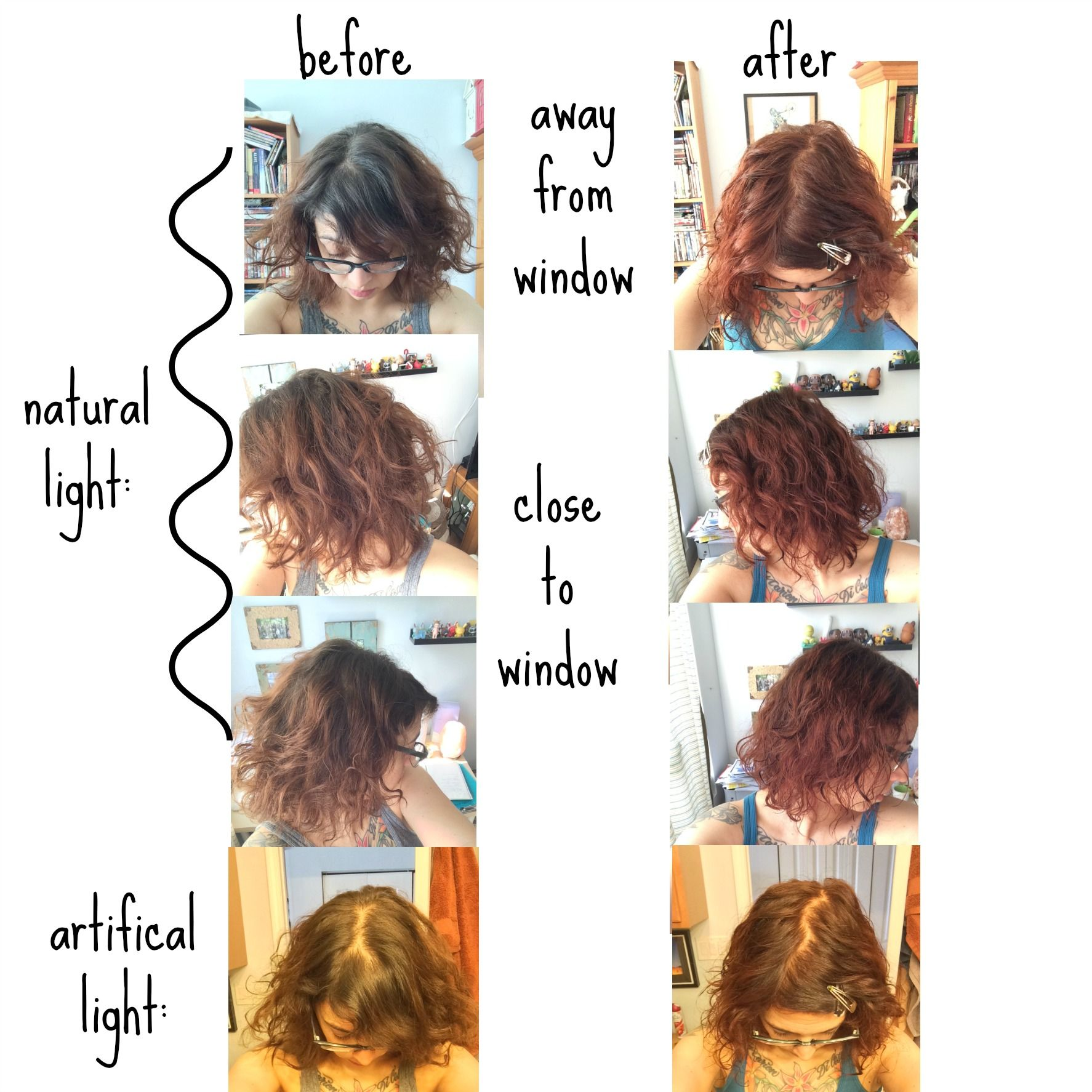 Henna Before And After Photos Old Color Natural Hair Color Root Growth On Top With Really Old Box Dye Color On Light Hair Color Natural Hair Color Henna Hair