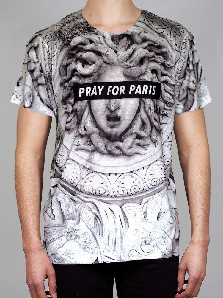Pray for Paris Medusa t-shirt (all over print) | Pray For Paris