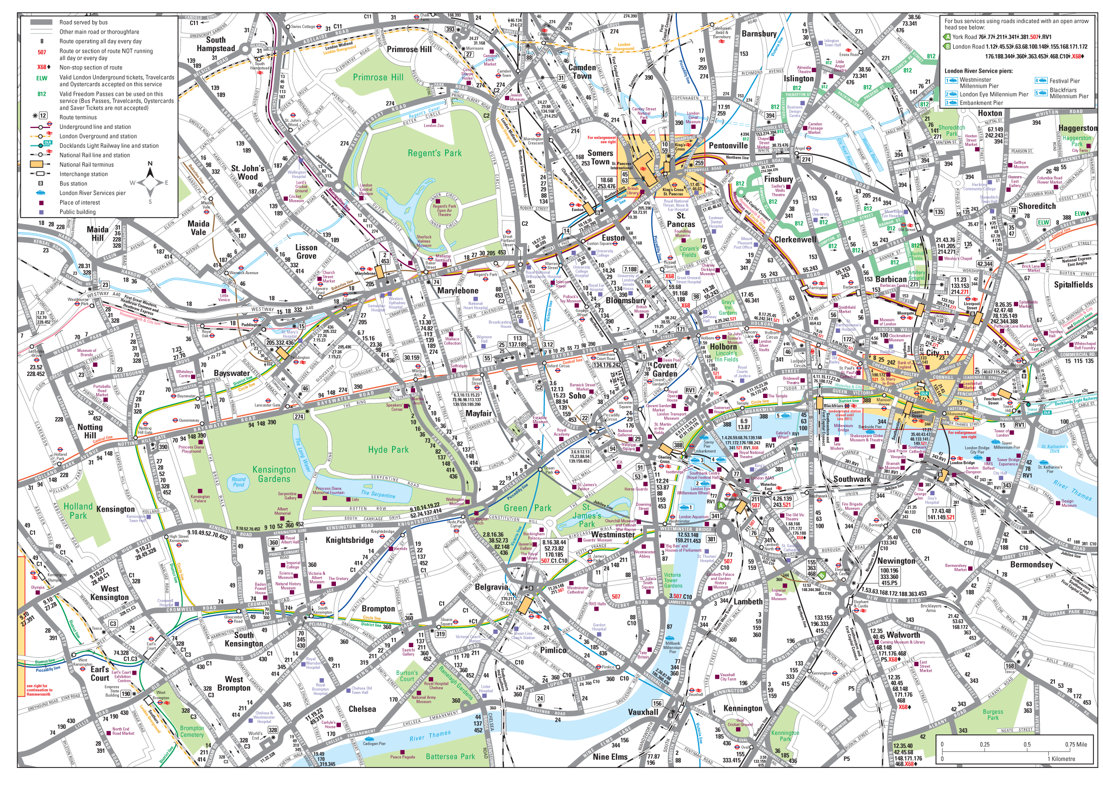 London City Bus Map.London Detailed Road Map New Zone London Map Bus Map London