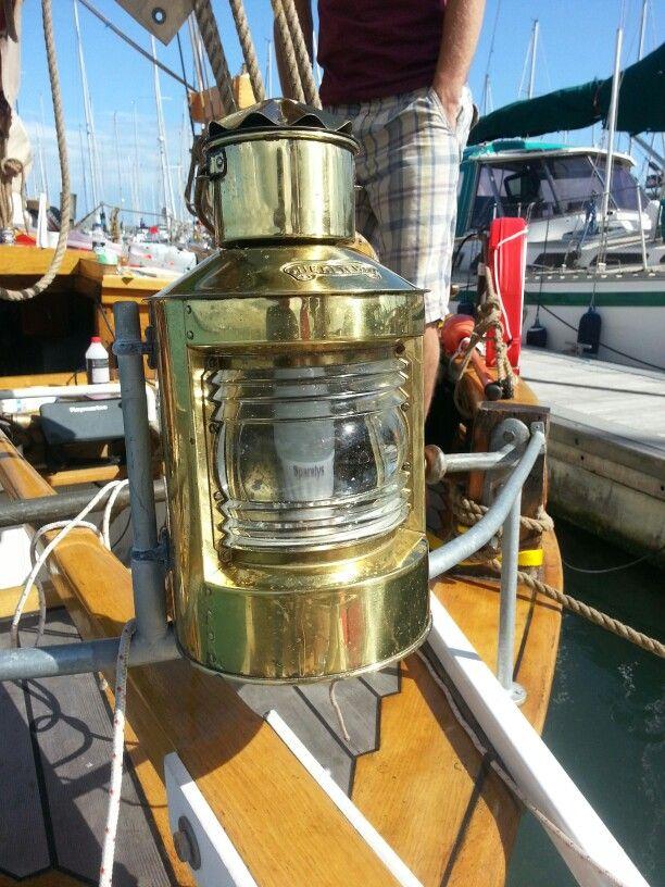 Stern light on sailing vessel Garbaldi. & Stern light on sailing vessel Garbaldi.. | Nautical Lamps Lighting ...