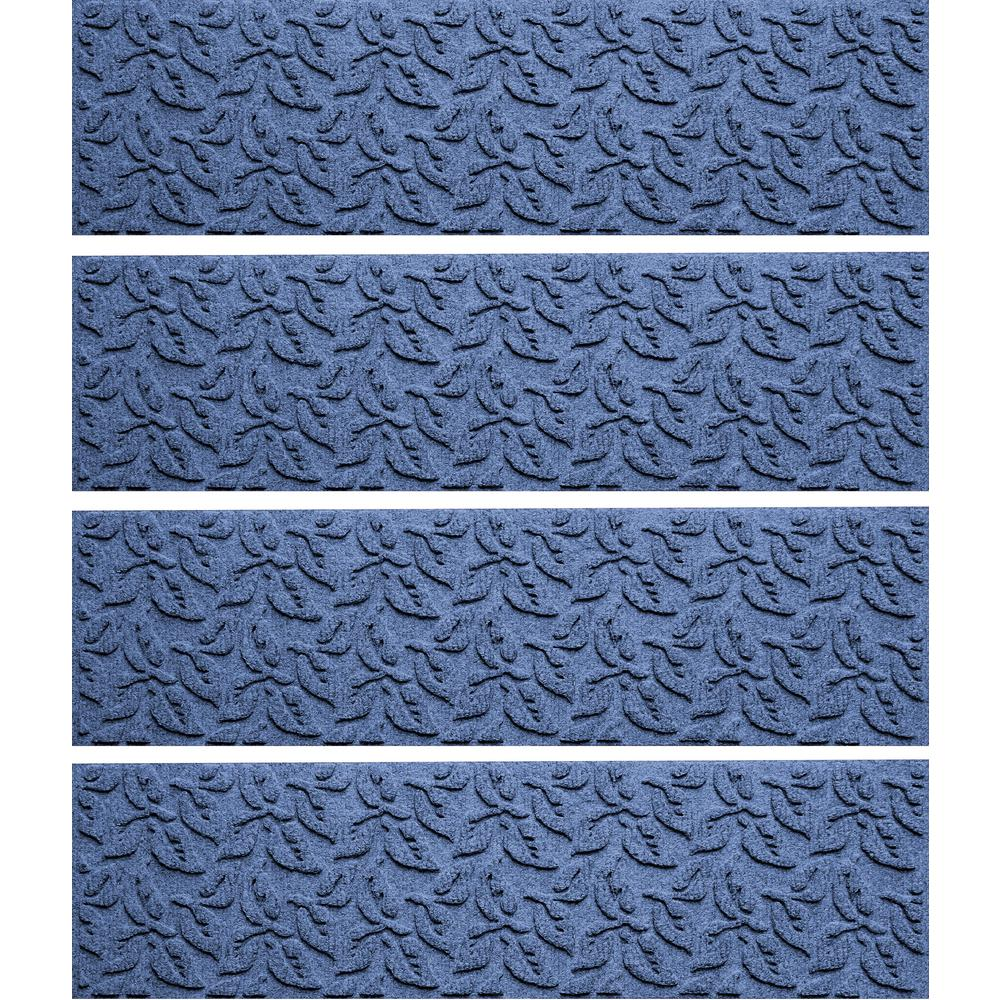 Best Aqua Shield Navy 8 5 In X 30 In Dogwood Leaf Stair Tread 640 x 480
