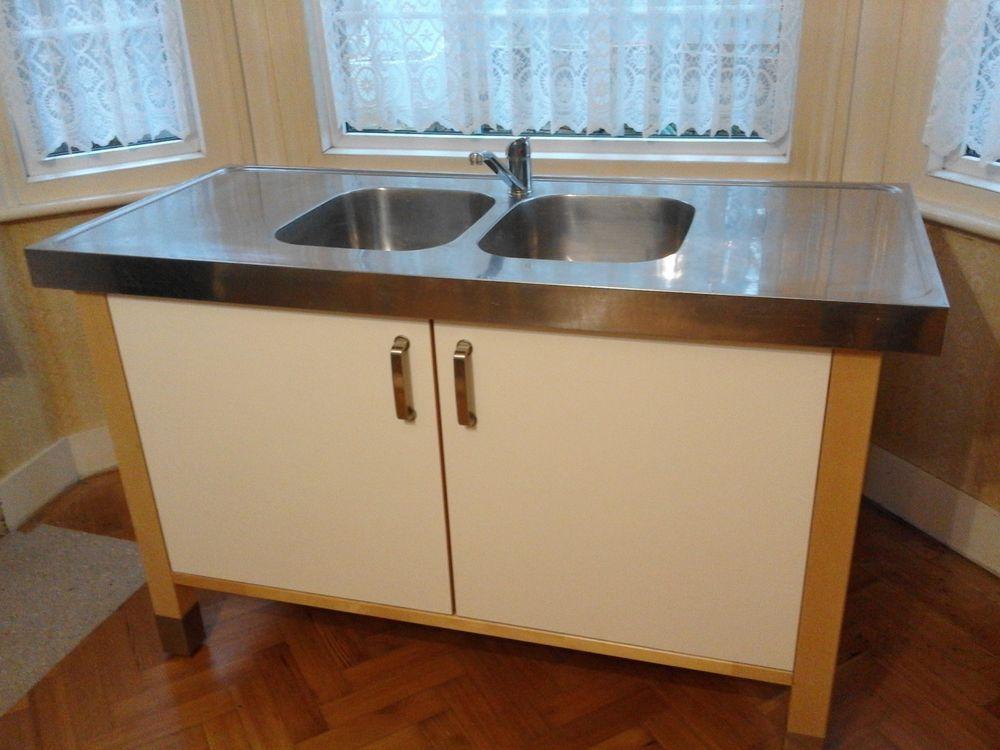 Ikea varde freestanding sink unit-inc. tap and plumbing | Kitchens ...