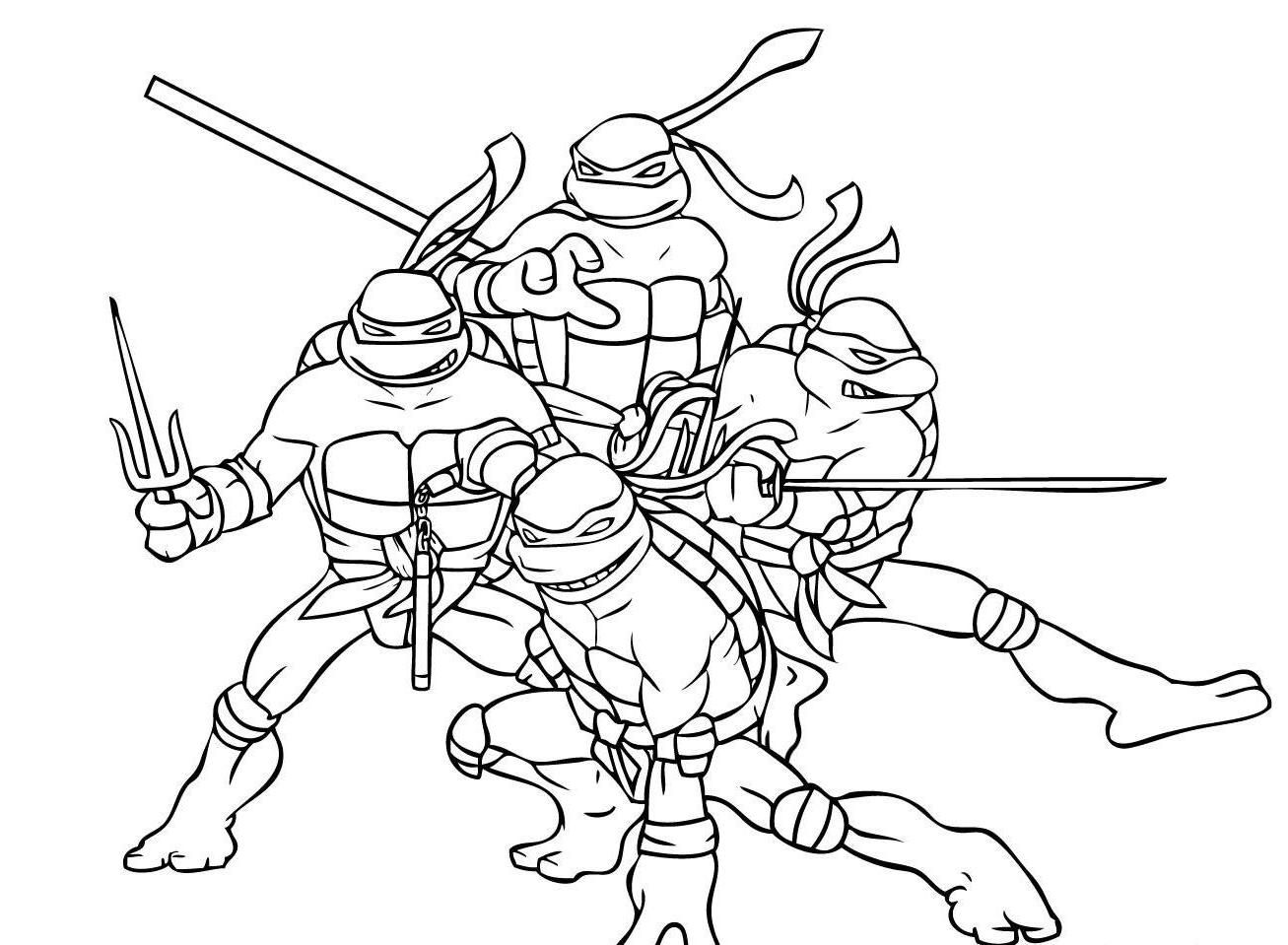 Coloring online ninja - The Ninja Turtles Coloring Pages