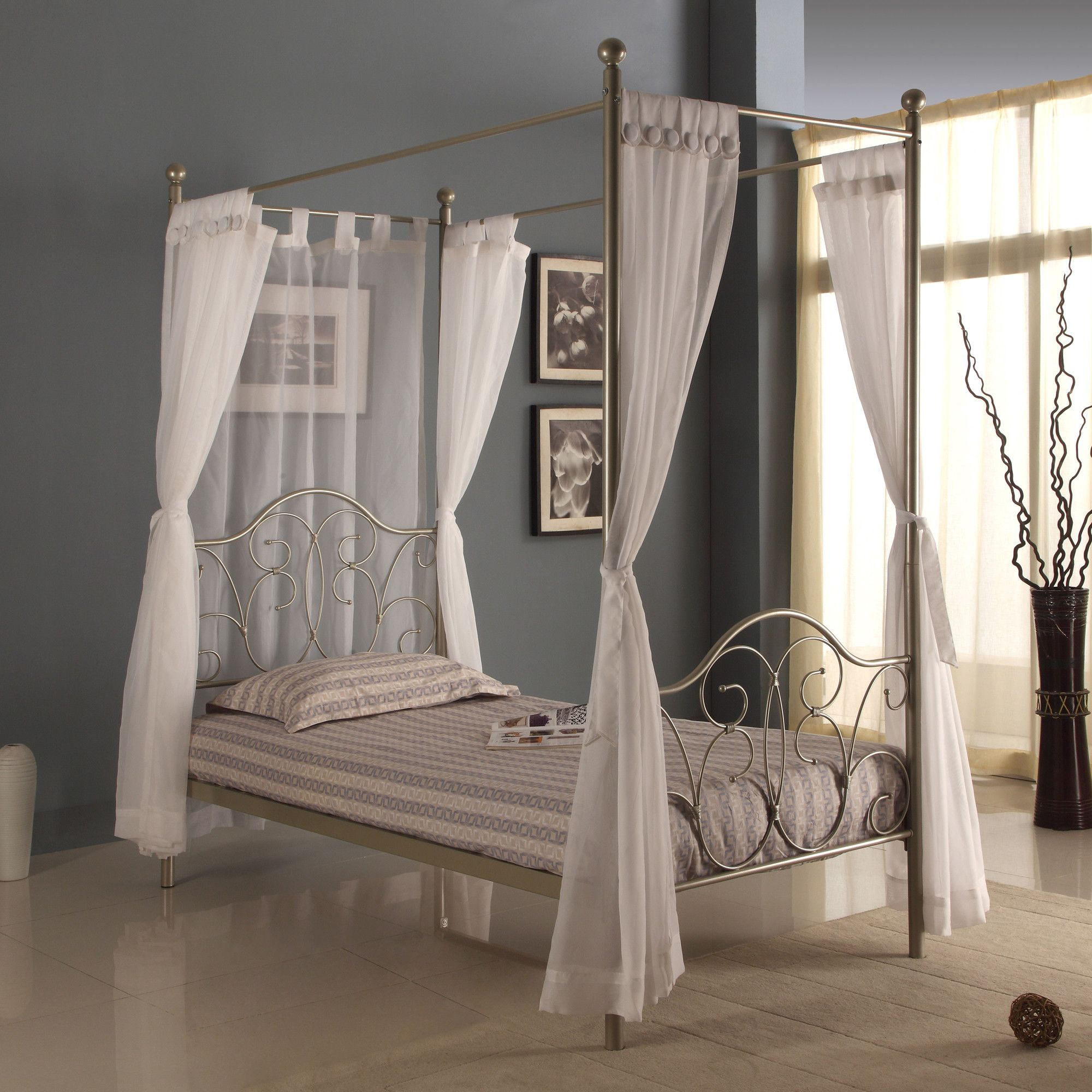 - Home Loft Concept Twin Canopy Bed Canopy Bedroom Sets, Twin