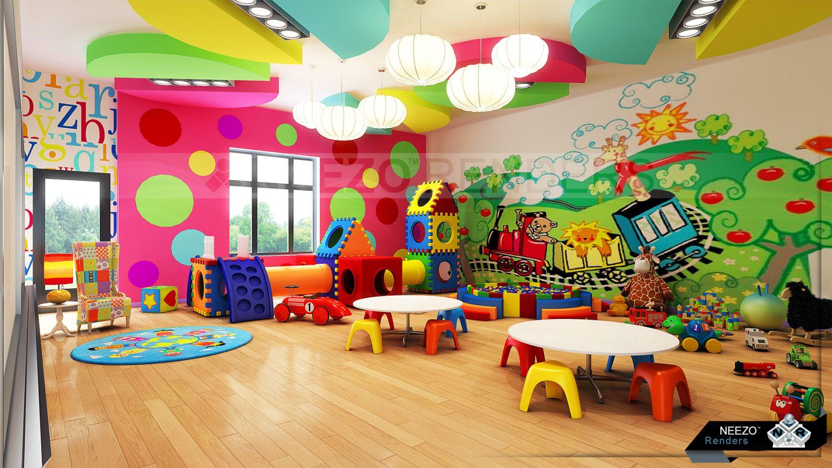 Картинка игровой центр в детском саду идеальное оформление