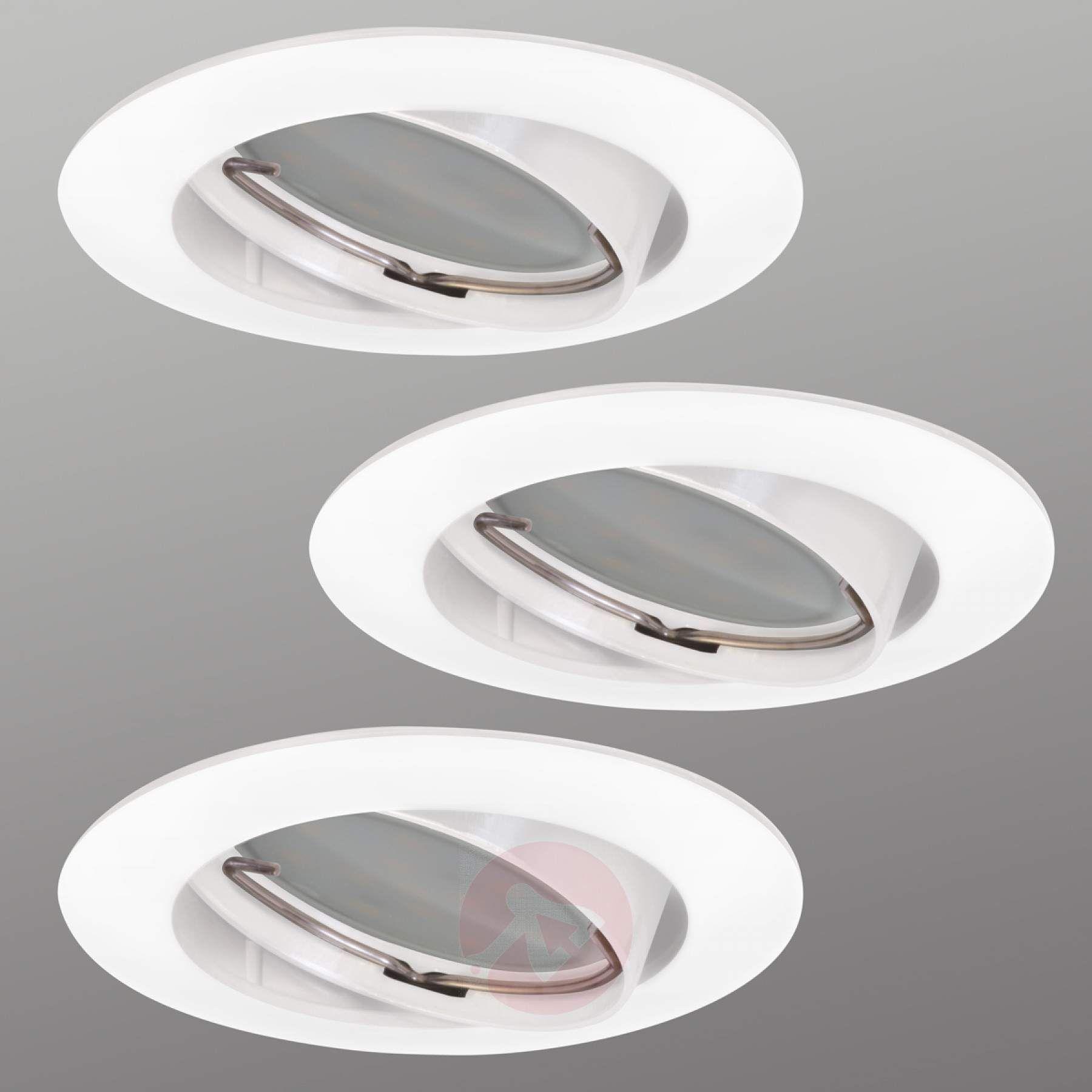 3er Set Led Einbauspot Downlight Dim Flat Kaufen Lampenwelt De Led Einbauspots Lampen Und Leuchten Led Einbaustrahler