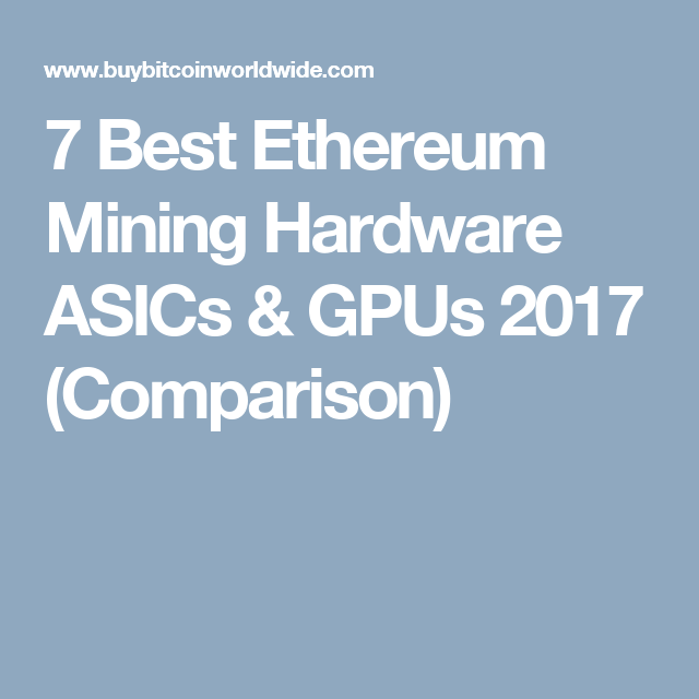 best cryptocurrency mining hardware