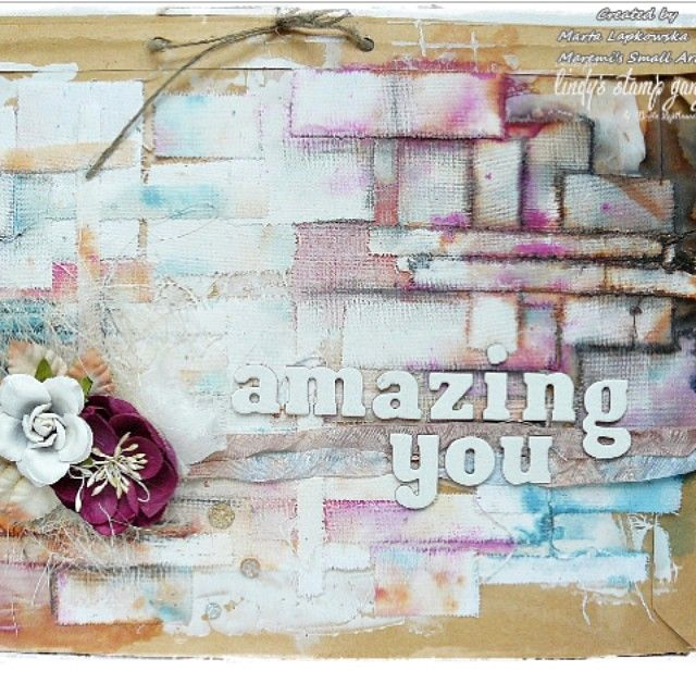Sneak peak of an amazing tutorial on our blog by @maremis_small_art #lindysgang #mixedmedia #artjournaling #sprays #colorchallenge