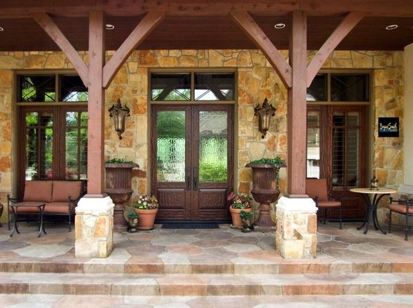 One Of Our Texas Hill Country Front Porches Bryansmithhomes Hill Country Homes House With Porch Rustic Porch