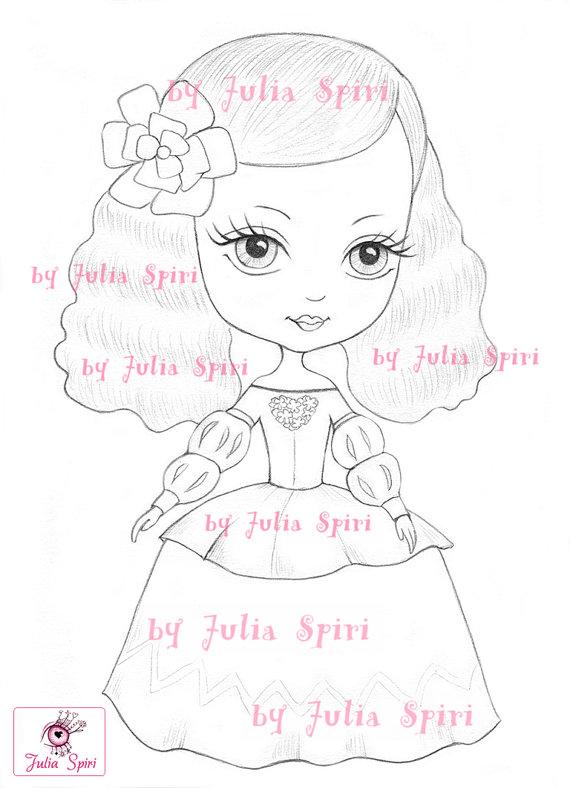 Princess Digital stamps, Vintage Digi, Princesses, Little girl, Big ...