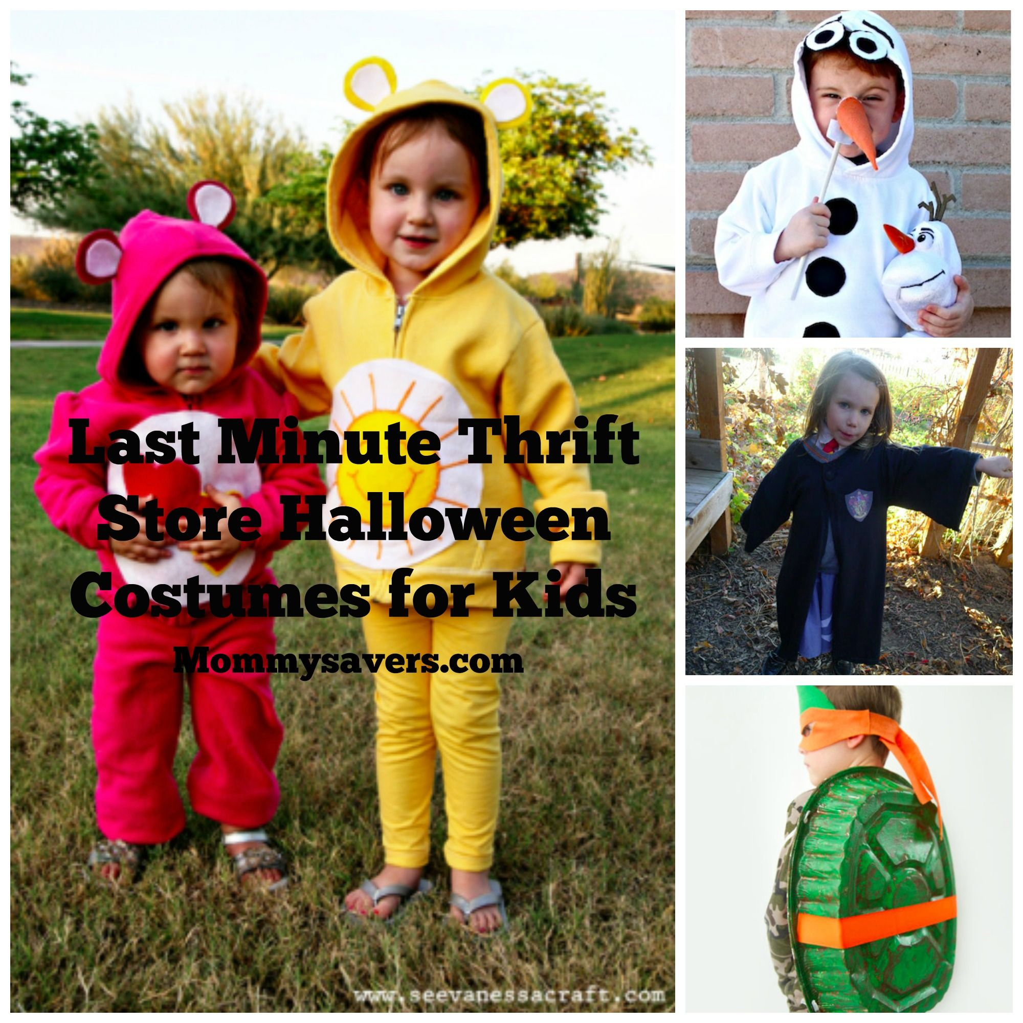 Last Minute Thrift Store Halloween Costumes for Kids