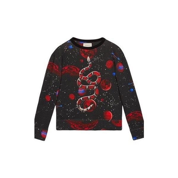 6f8b79a3215 GUCCI  Space Snake  Print Sweatshirt (13.386.595 IDR) ❤ liked on ...