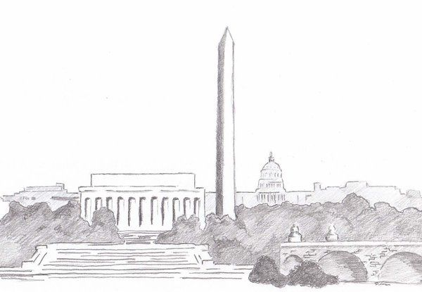 Dc Skyline Sketch By Mr Dc On Deviantart Skyline Drawing Washington Dc Skyline City Sketch