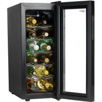 Koolatron Wc12g Slim Countertop 12 Bottle Thermoelectric Wine Cellar Black Thermoelectric Wine Cooler Wine Cellar Wine Bottle