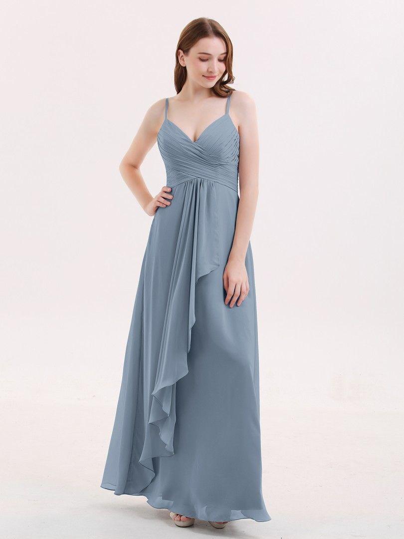 204e26de59fb6 Babaroni Octavia Chiffon Bridesmaid Dresses with Cascade Skirt