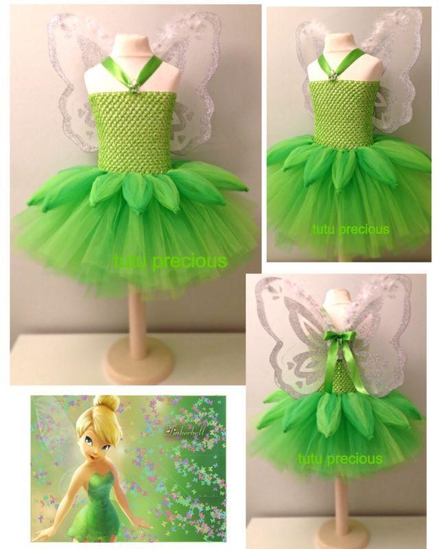 Disney Inspired Tinkerbell Tutu Dress Dressing Up Costume Tinkerbell Costume Toddler Diy Tutu Dress Princess Tutu Dresses