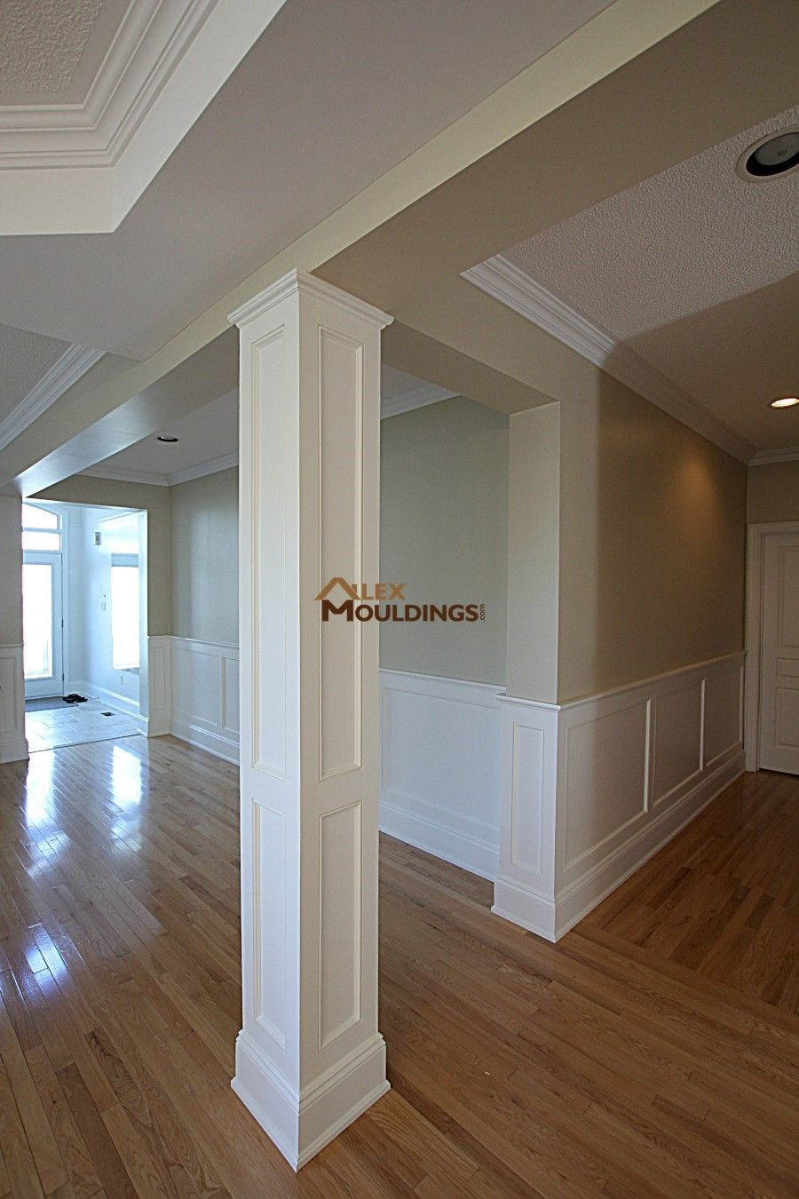 Basement Wainscotting And Columns Dining Room Wainscoting Wainscoting Styles Interior Columns