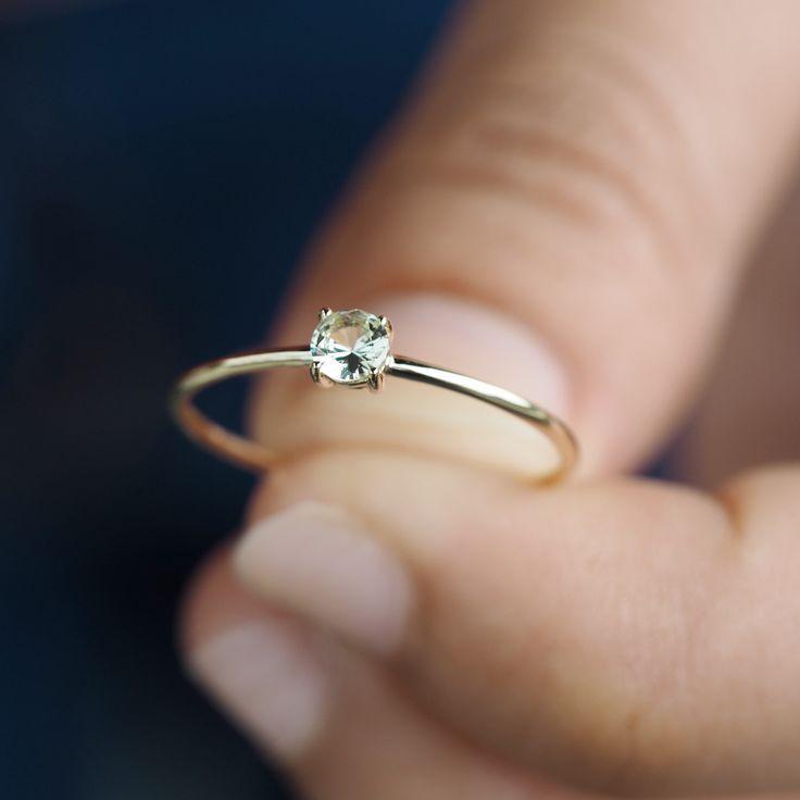 Photo of green garnet ring, green engagement ring, eco engagement ring, tsavorite ring, …
