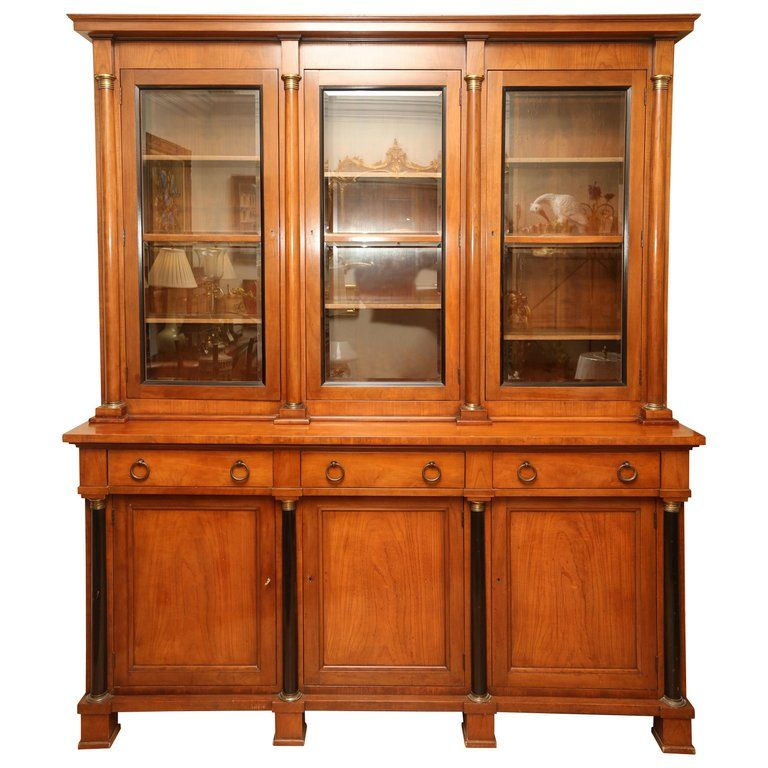 Biedermeier Style Library Cabinet By Baker Products In