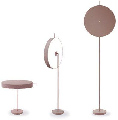 Lampe plate – copper floor light | lighting . Beleuchtung . luminaires | Design: inga sempe |