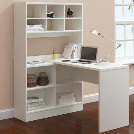 Latitude Run Yeadon L Shape Writing Desk With Hutch   Walmart.com
