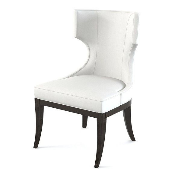 Resemblance Of White Upholstered Dining Chair Displaying Infinite  Gorgeousness
