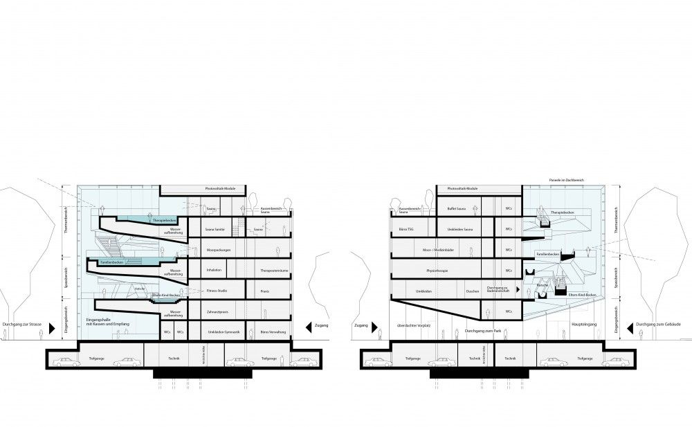 new paracelsus spa and pools in salzburg winning proposal hmgb architects trees - Spa Und Wellness Zentren Kreative Architektur