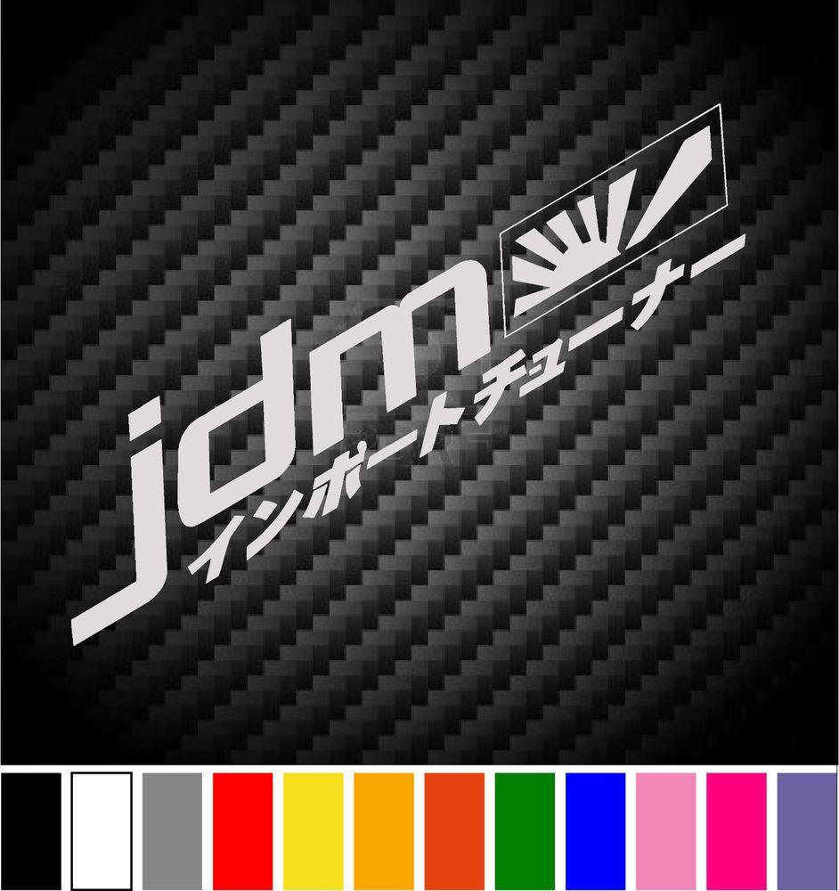 JDM Decal Honda Mitsubishi Toyota Car Window Bumper Sticker - Custom race car window decalsreal women usepedals sticker funny jdm honda girl race car