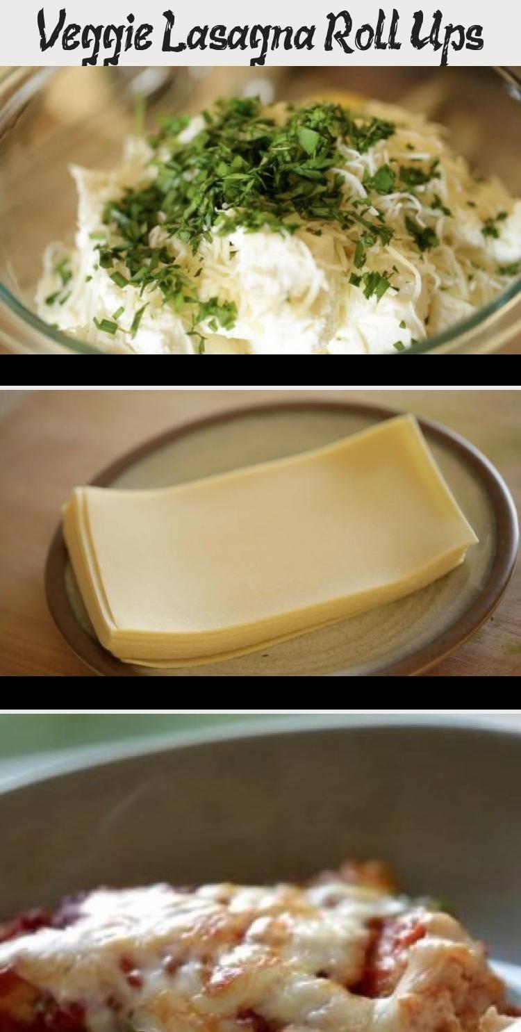 Veggie Lasagna Roll Ups A terrific vegetarian baked pasta recipe perfect for a Sunday Night Dinner