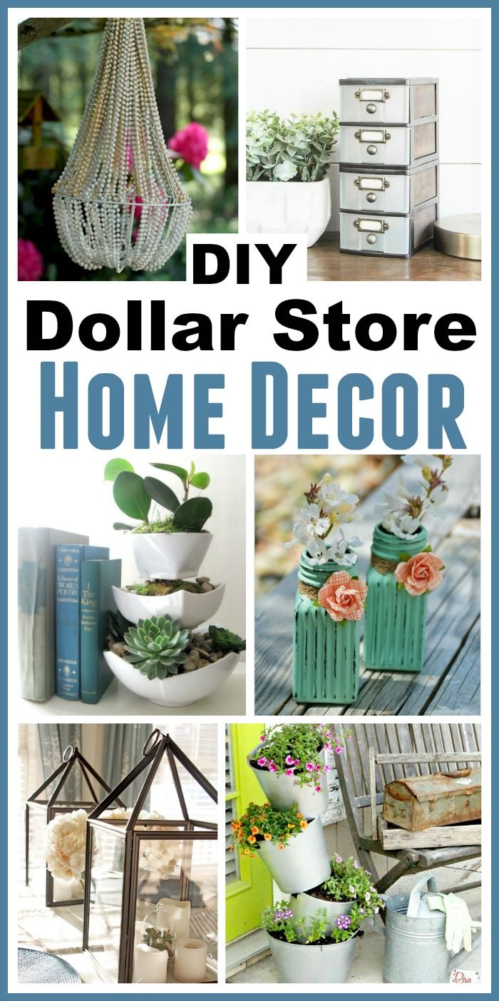 Diy dollar store home decorating projects dollar stores budgeting and decorating - Garden decor stores ...