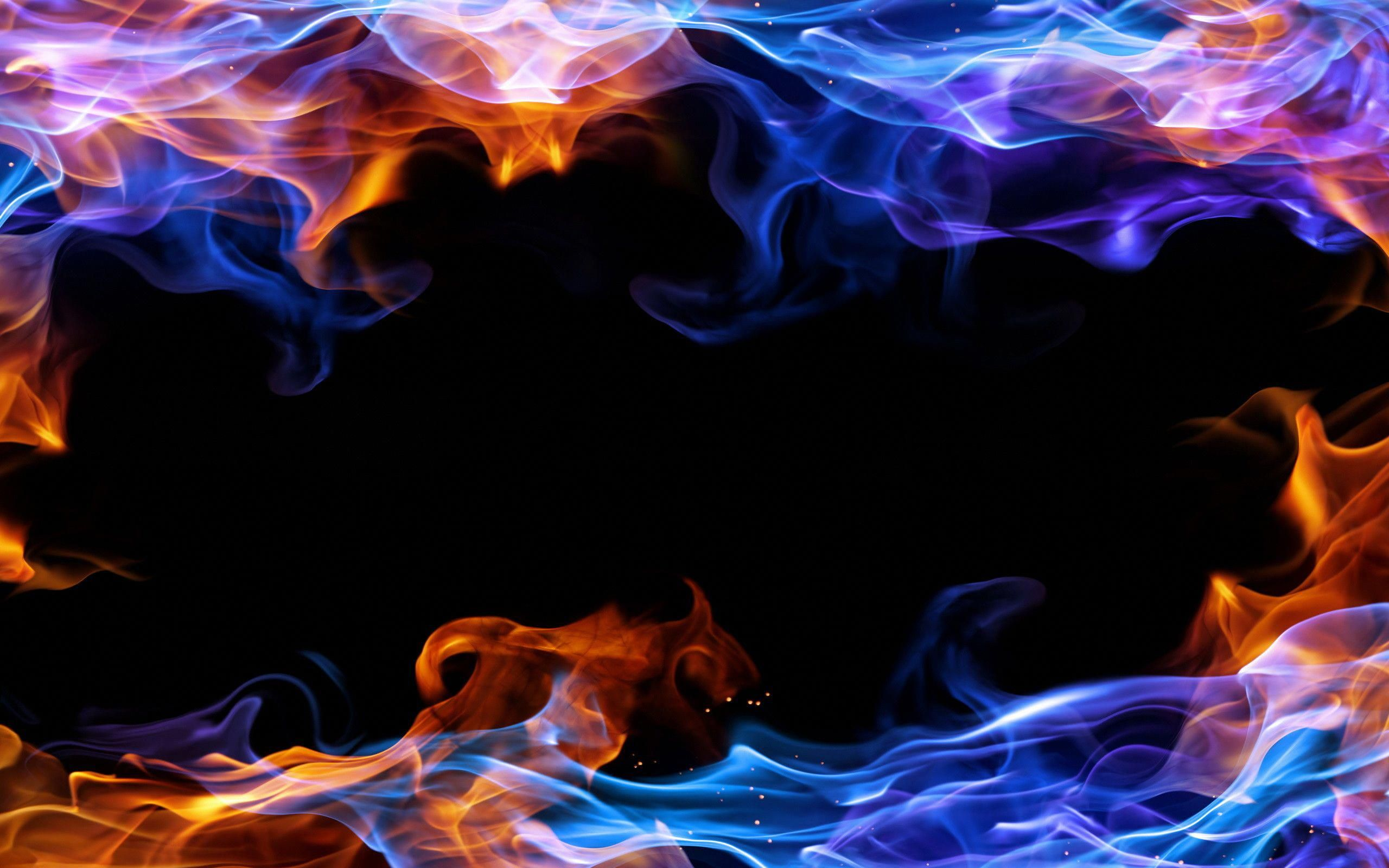 Popular Blue Fire Wallpaper Hd 2560x1600 For Android Tablet Smoke Background Fire Art Fire Image