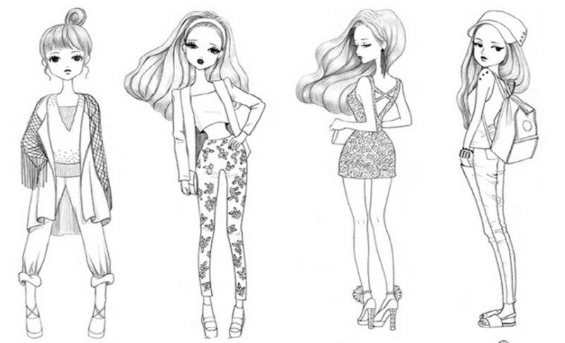 Fashion Girl Coloring Book Season 80 Sensuous Coordinating