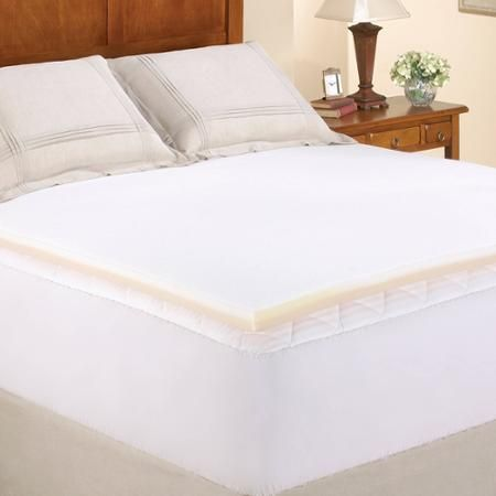 "Pillow Top Mattress Covers Prepossessing Mainstays 15"" Memory Foam Combo Mattress Topper In Multiple Sizes"